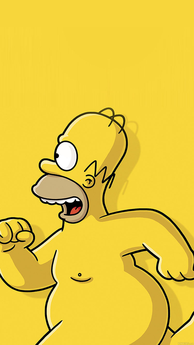 Wallpaper iphone simpsons - Iphone7papers Ab22 Wallpaper Catch Homer If You Can Homer Simpsons Illust