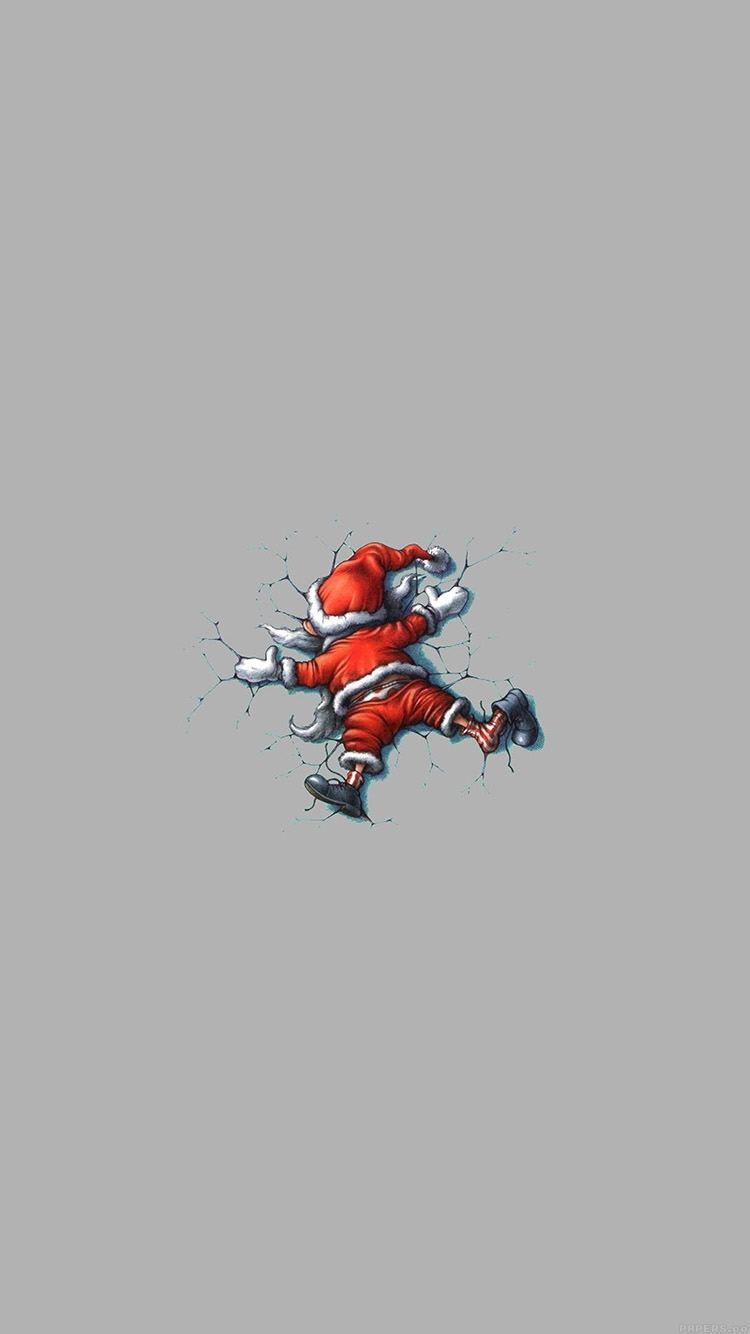 Iphone7papers Ag32 Funny Christmas Santa Illust Art