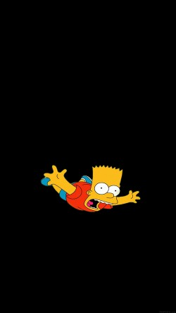 papers.co ag70 bart simpson funny cute illlust 33 iphone6 wallpaper