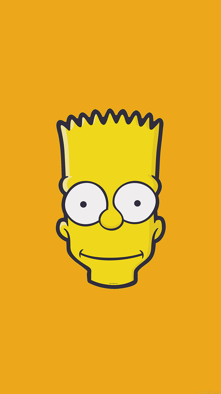 Tumblr iphone wallpaper simple - Iphone7papers Aj30 Bart Face Art Illust Yellow Simpsons Minimal Simple