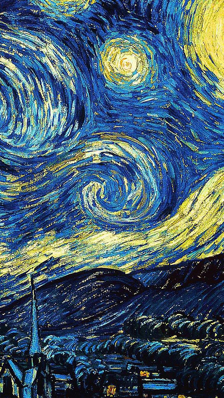 IPhone7papers.com | IPhone7 Wallpaper | Ar55 Vicent Van Gogh Starry Night  Art Classic