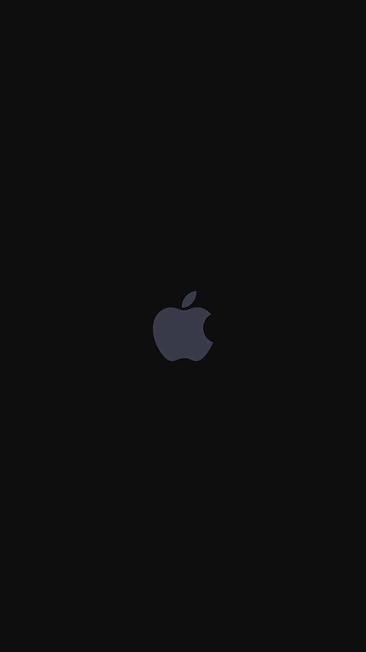 Iphone7papers Com Iphone7 Wallpaper As68 Iphone7 Apple Logo Dark