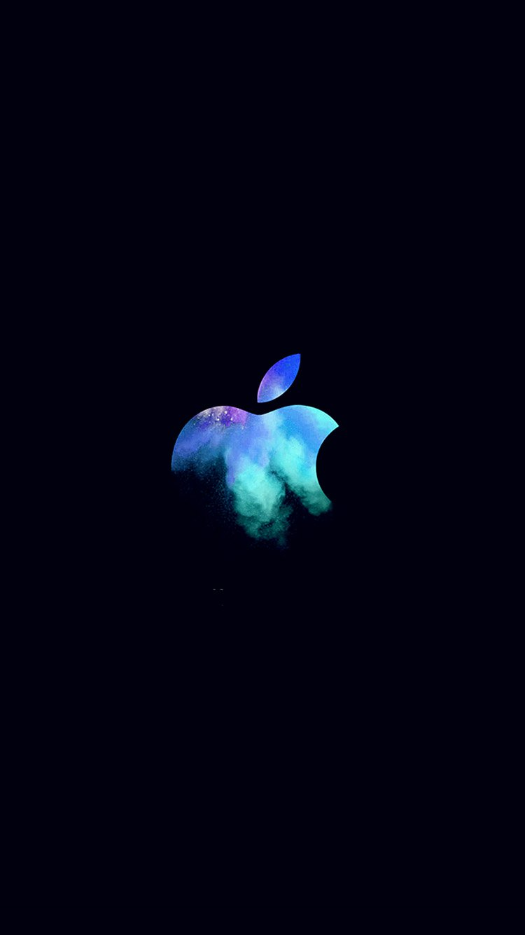 papers.co au33 apple mac event logo dark illustration art blue 33 iphone6 wallpaper