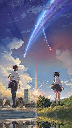 Iphone7papers Com Iphone7 Wallpaper Aw27 Anime Film Yourname Sky