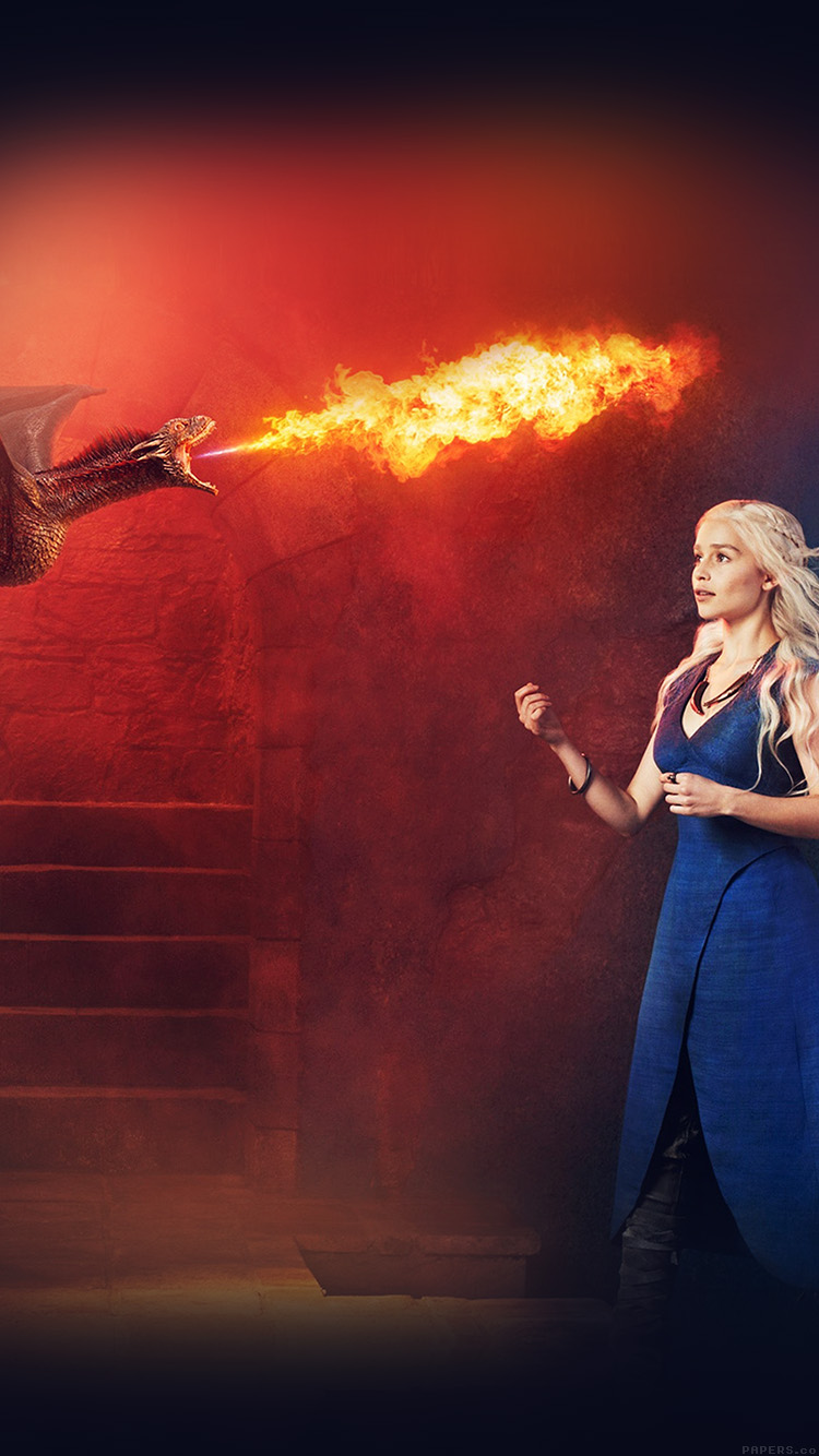 iphone7papers - he88-emilia-clarke-game-of-thrones-fire-dragon