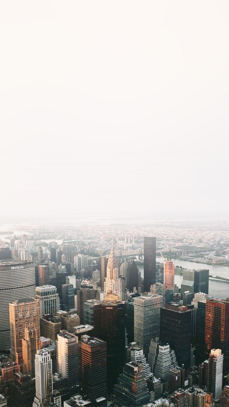 Iphone7papers Mo49 Jonas Nillson Newyork Architecture City Sky