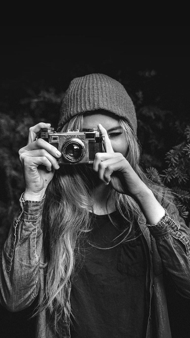 Mx77 Photo Taking Girl Dark Cute Bw