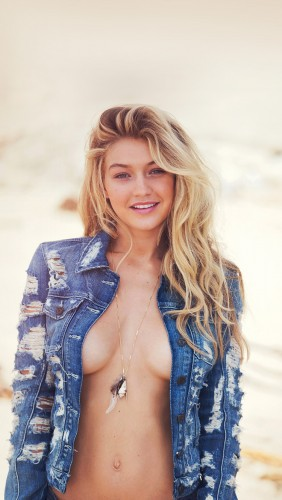 Gigi Hadid models new GUESS collection