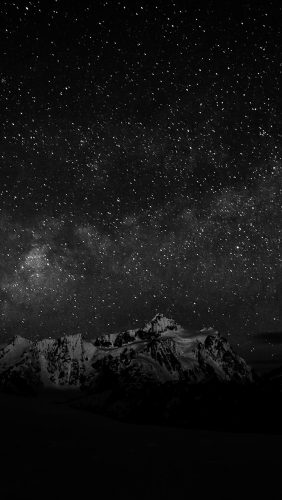 nf71-starry-night-sky-mountain-nature-bw-dark