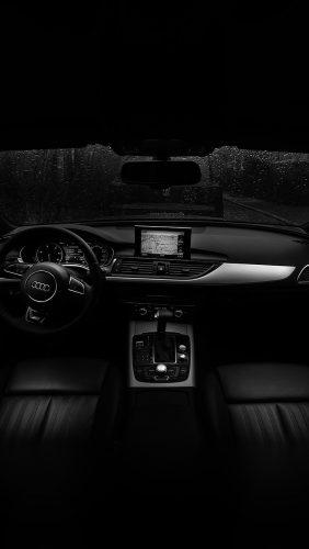 no06-audi-car-interior-dark-bw