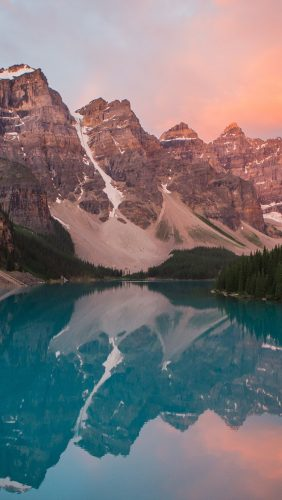ns24-lake-mountain-pink-sunset-nature
